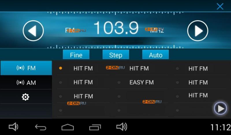 меню Радио